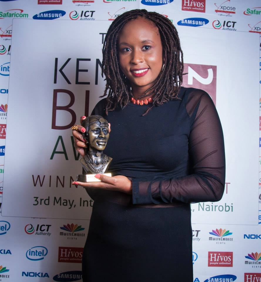 Wendy Wahito who won Best Food Blog in the 2014 BAKE Kenyan Blog Awards