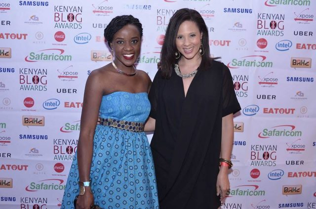 EatOut Kenya GM Michelle Slater with BAKE Awards 2016 Food category winner Kaluhi Adagala